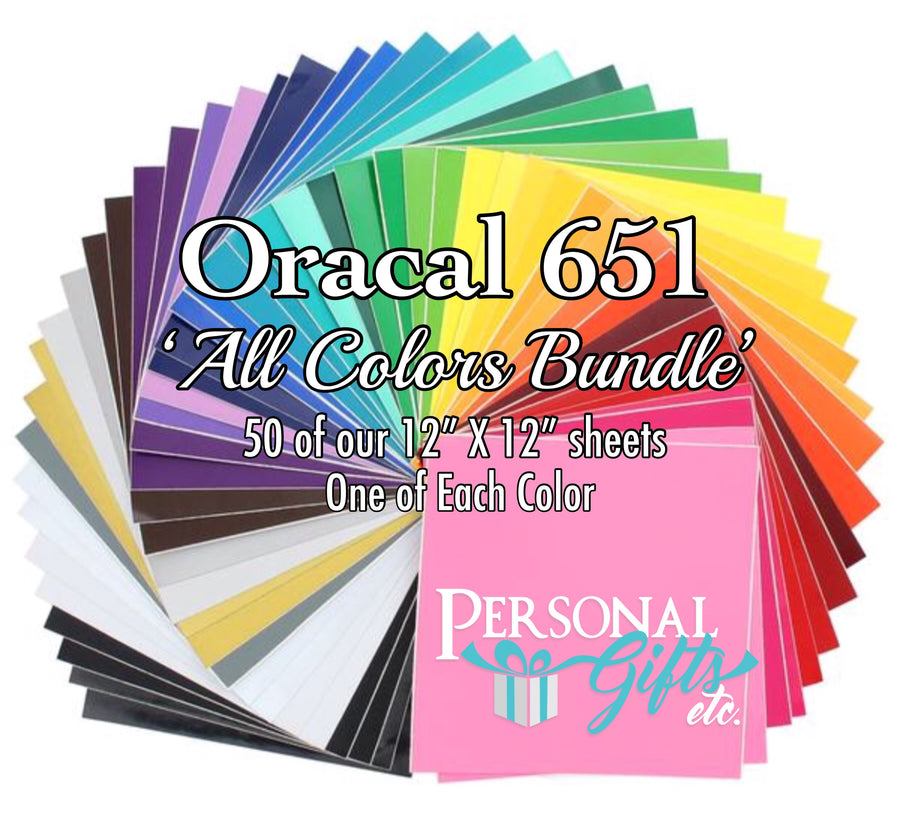 Oracal 651 Adhesive All Colors Bundle