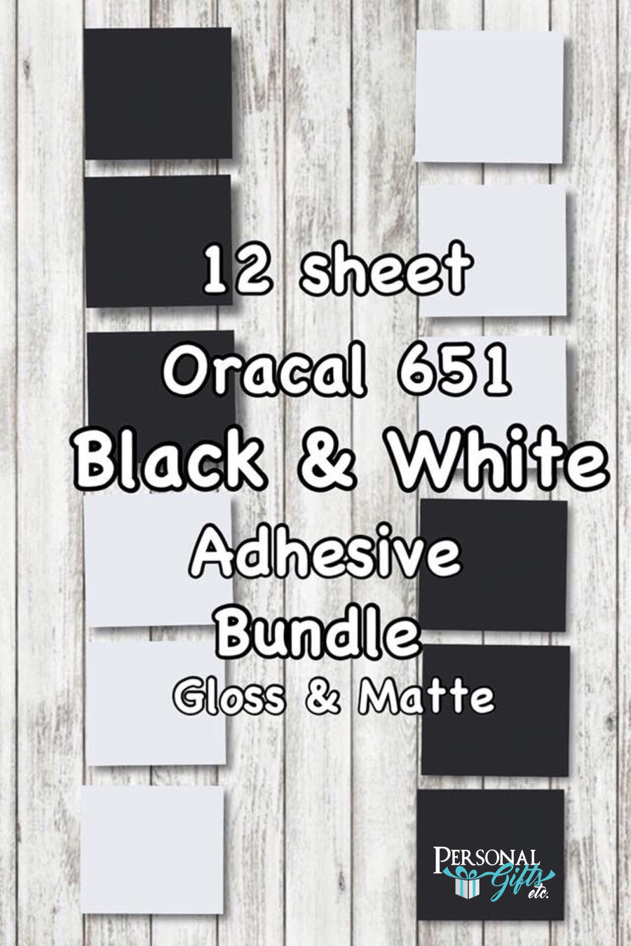 Oracal 651 Adhesive Black & White Bundle