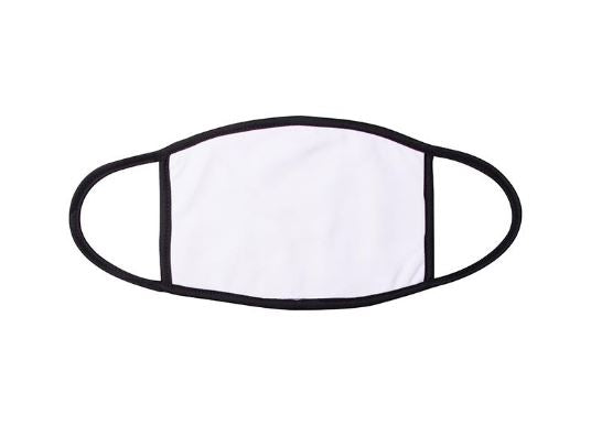 Kid's Face Mask - 2 Layer Sublimation Blank w/ black trim