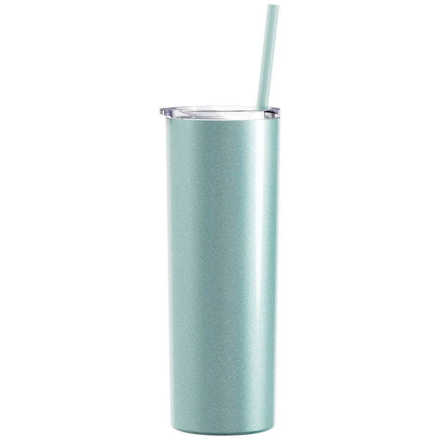 Sublimation Skinny Glitter Tumblers-20oz