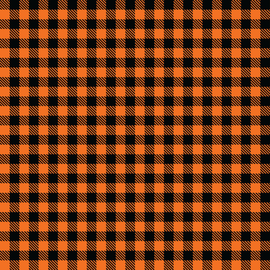 Buffalo Plaid Orange/Black