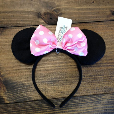 Mouse Ears with Bow Headband - CLEARANCE!!!