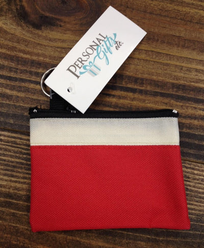 Two Tone Small Zip Coin Purse
