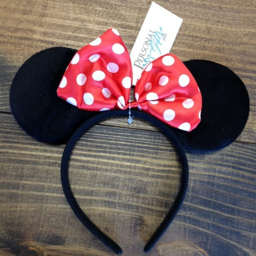 Mouse Ears with Bow Headband