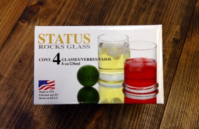 4PC Set Libbey 8 oz Rocks Glasses