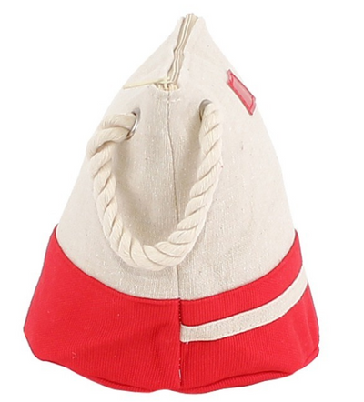 Canvas Nautical Cosmetic Bag with Rope Handle
