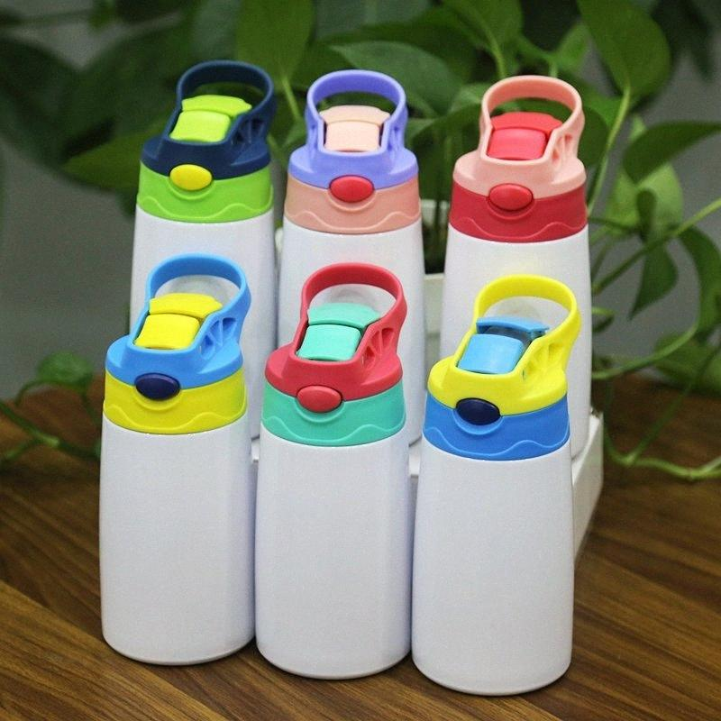 Sublimation Sippy Cup Water Bottle w Lid Silicone Straw