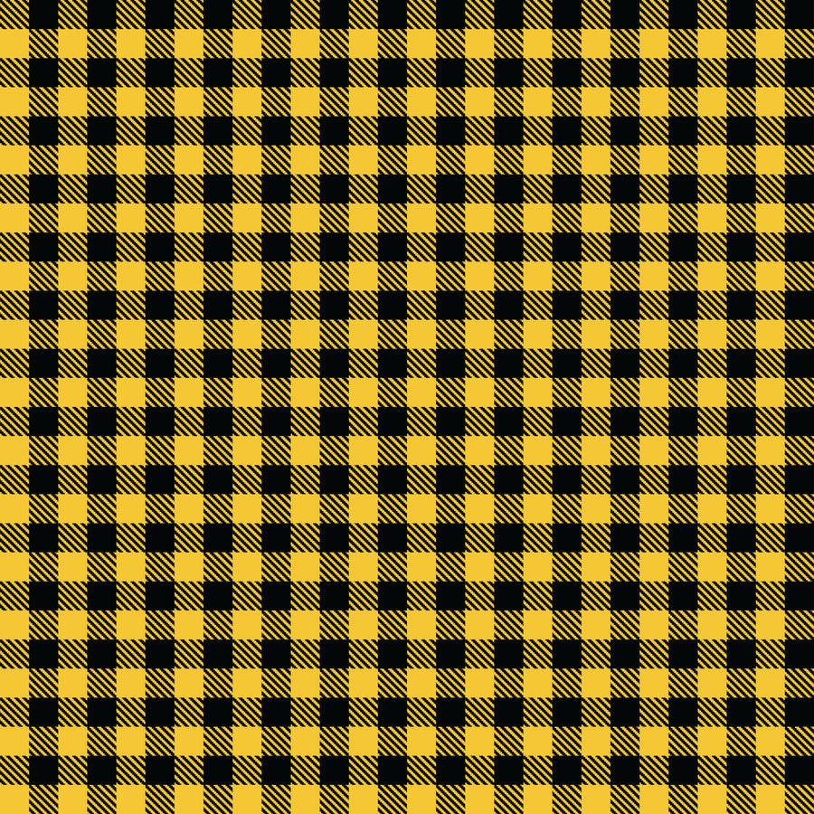 Buffalo Plaid Yellow/Black