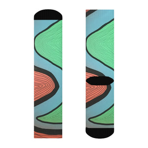 """Unnecessary pressure"" Art Socks"