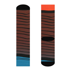 """Scratch the surface"" Art Socks"