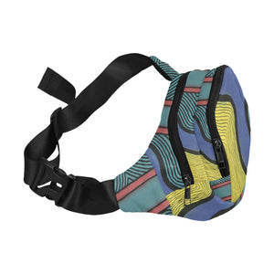 """Blocking the negativity"" art fanny pack"