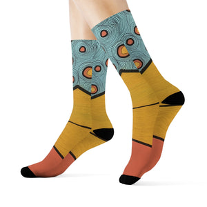 """Cautiously approaching"" Art Socks"