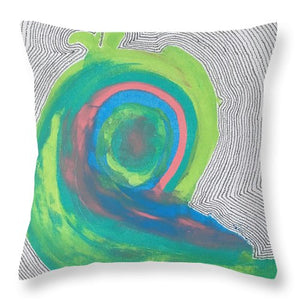"""Sprouting New Energy"" Throw Pillow"