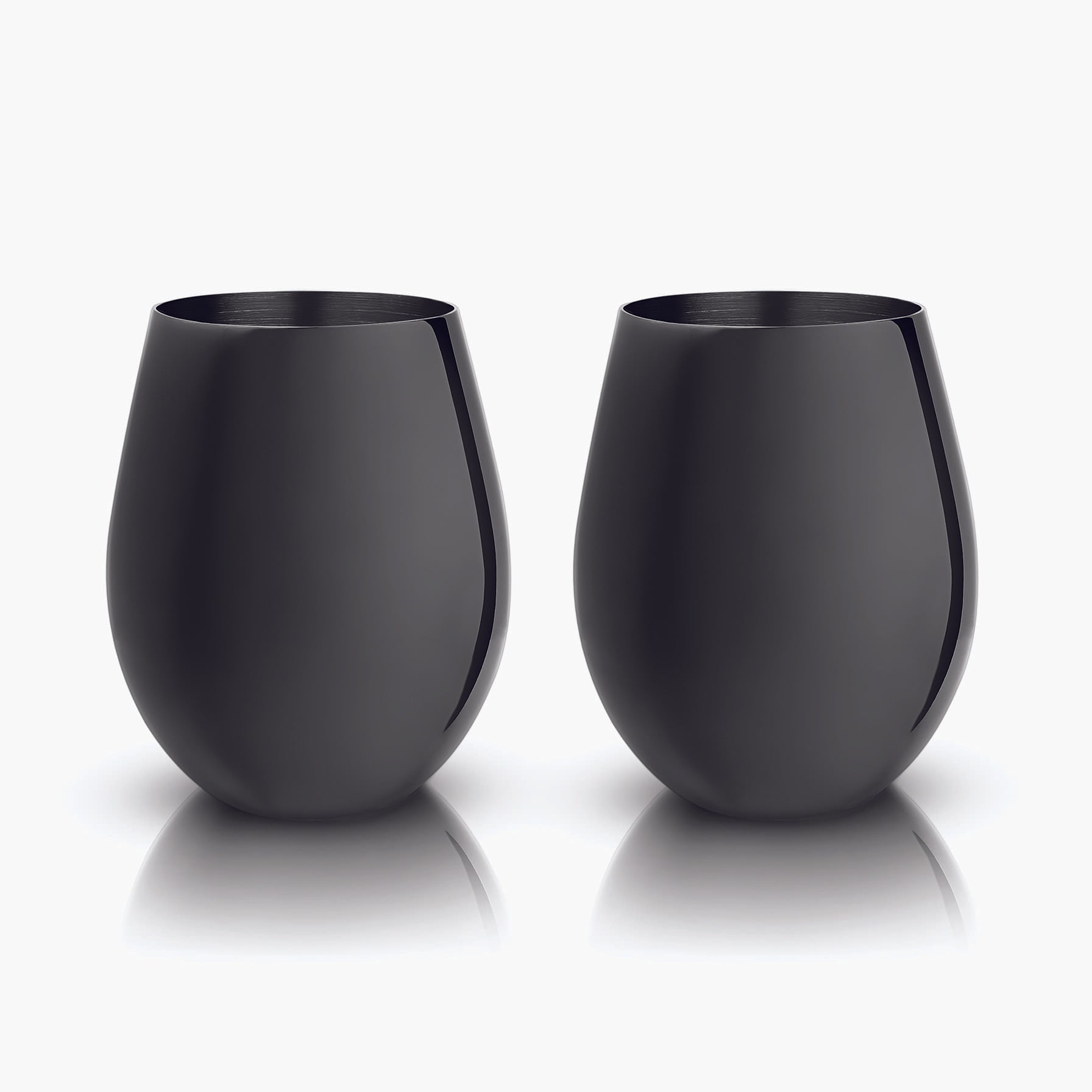 Gunmetal Black Stemless Wine Glasses