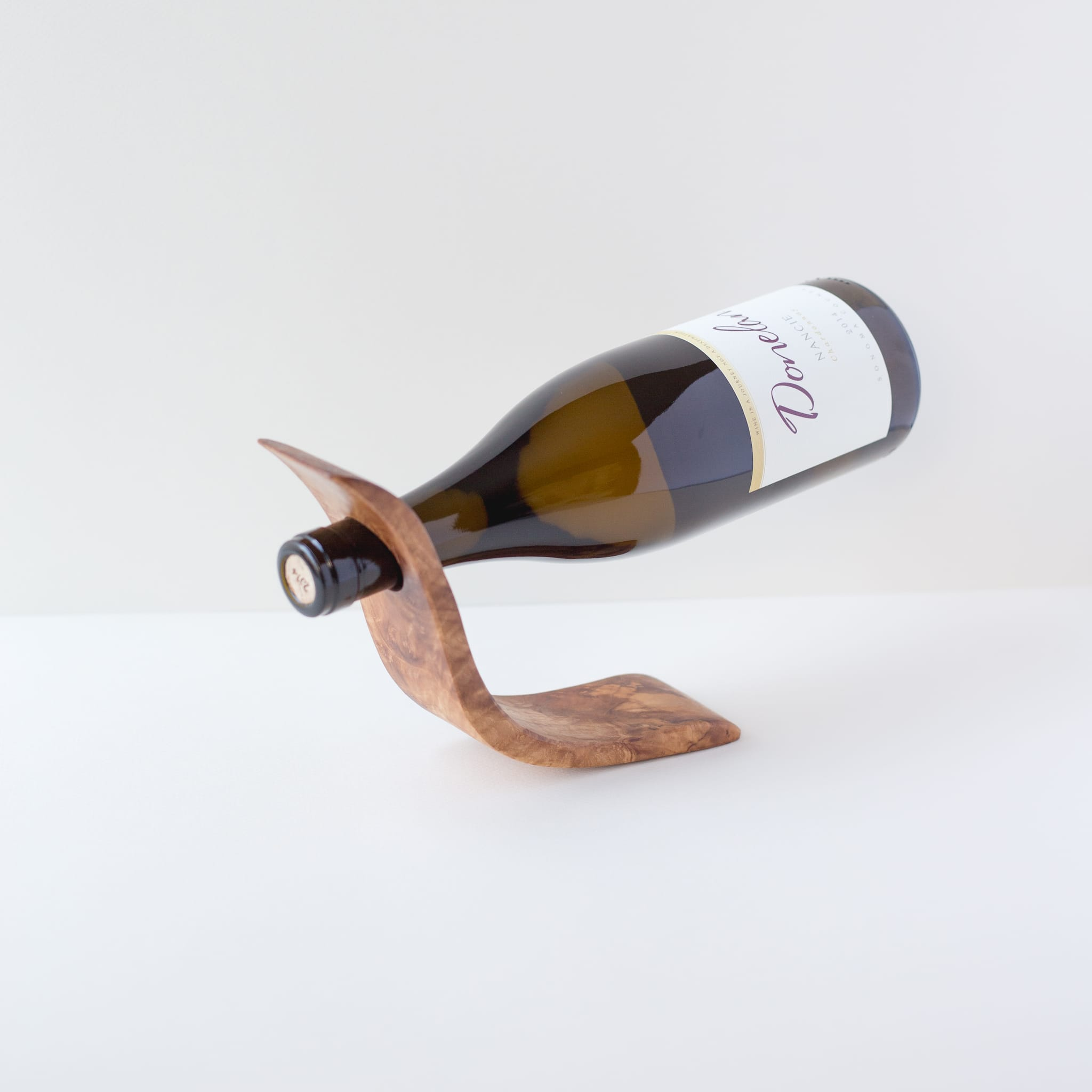 Olivewood Wine Bottle Balance - Step