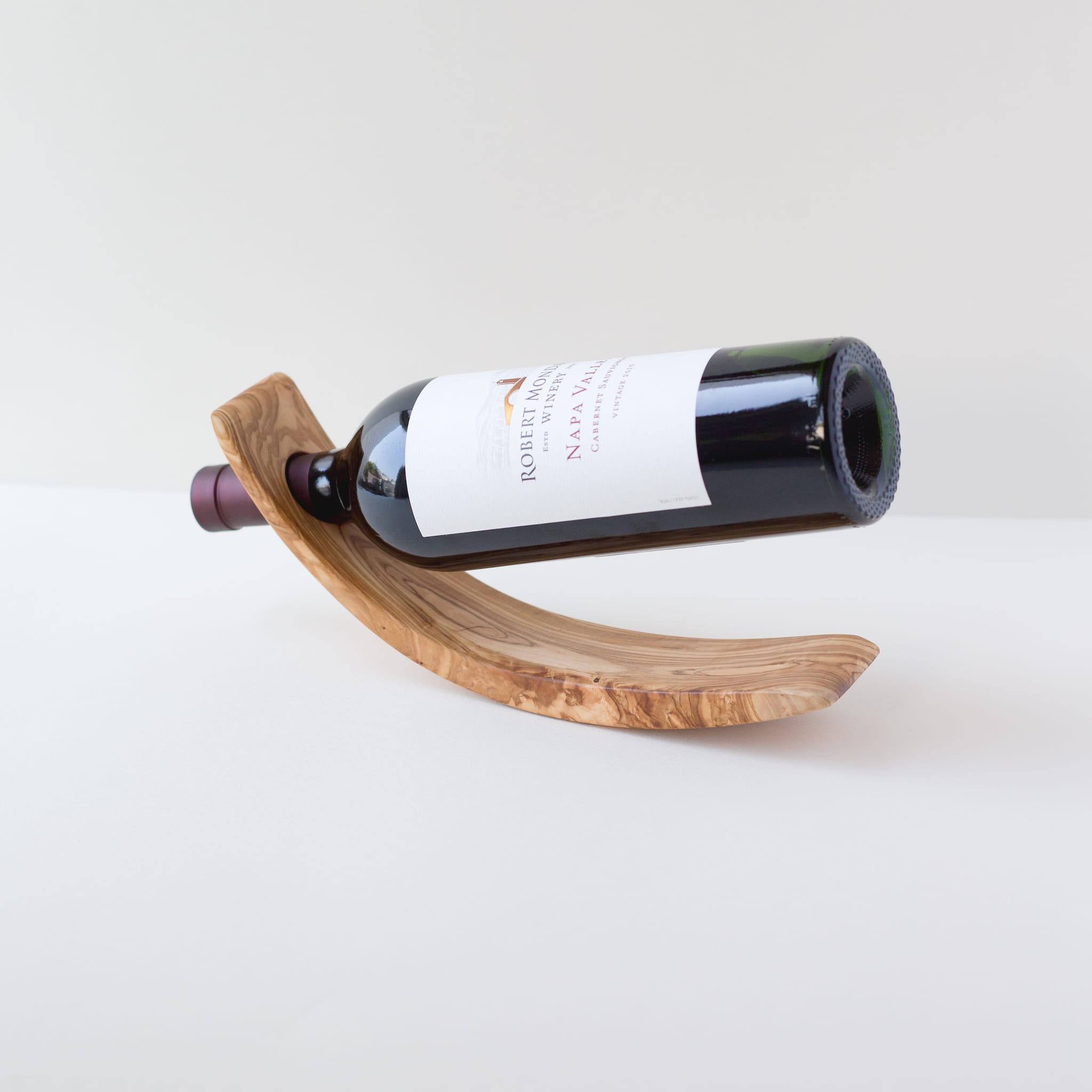 Olivewood Wine Bottle Balance - Arch