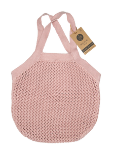 STRIKKET NET - LIGHT PINK - 35X35 CM