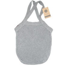 KNITTED A TOTE BAG - GREY MELANGE - 37X37 CM