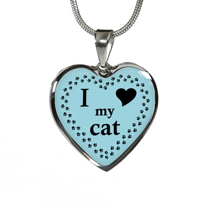 Cat I Love My Cat Necklace