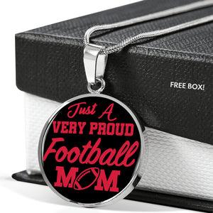 Very Proud Football Mom Necklace