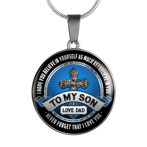 To My Son Necklace