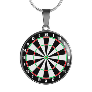 Darts Dartboard Necklace