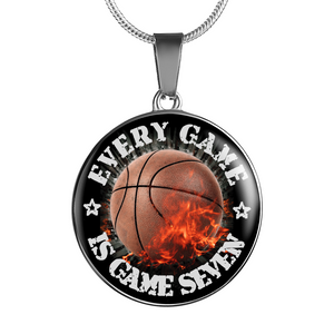 Basketball Game Seven Necklace
