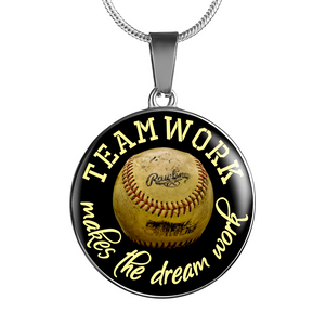 Baseball Teamwork Necklace