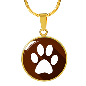 Brown Pet Animal Paw Necklace