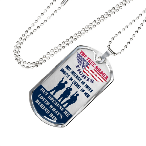 The True Soldier Dog Tag