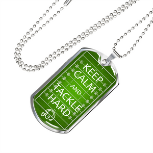 American Football Tackle Hard Dog Tag