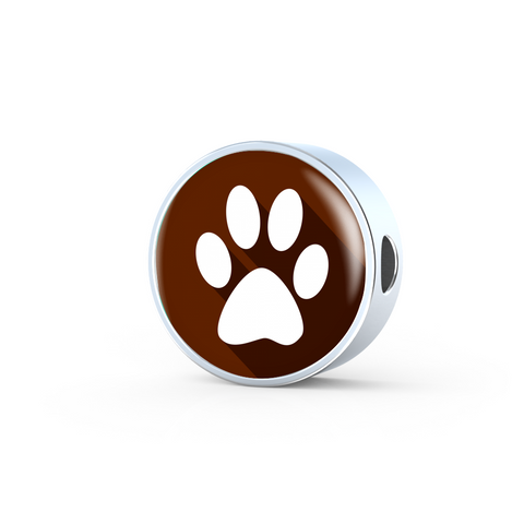 Brown Pet Animal Paw Charm