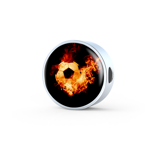 Soccer Ball On Fire Charm