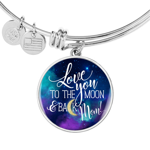 Love You To The Moon And Back Bangle