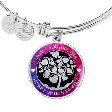 Mom Heart Of Our Family Bangle