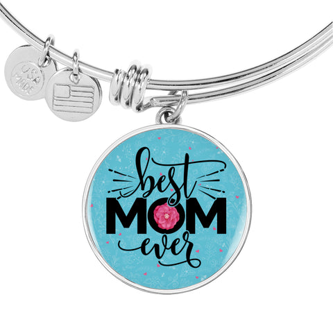 Best Mom Ever Turquoise Bangle