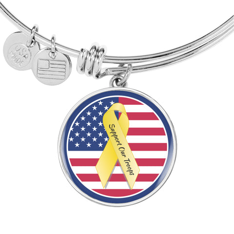 USA Support Our Troops Bangle