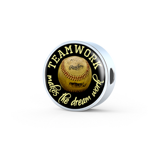 Baseball Teamwork Charm