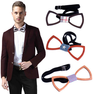 High Quality Fashion Handmade Wood Bow ties Bowtie Butterfly Gravata Ties For Men Hollow out Geometric Wooden bow tie Hot