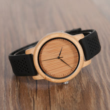 Dakar - Bamboo Wood Watch with Silicone Strap