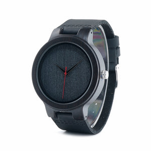 Melia - Black Ebony with Grey Textured Dial