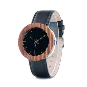 Nightsky - Striped Wood Black Dial