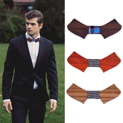 Retro Style Handmade Men And Women New Wooden Bowtie Wood Fashion Personality Accessory Bow Ties All Match Geometric Hot Sales