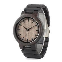 Husk - Ebony Wood Chain and Case Watch