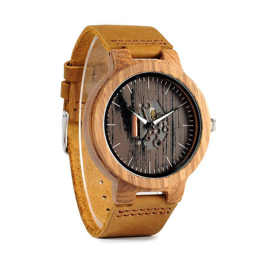 Kano - Zebra Wood Case with Exposed Movement