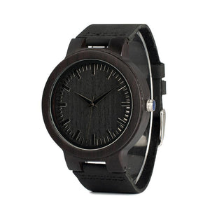 Lyrata - Dark Ebony Natural Watch with Leather Strap