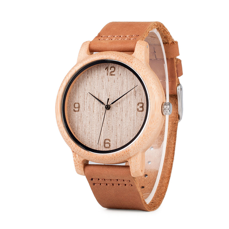 Husk - Bamboo Grainy Wooden Watch with Dials