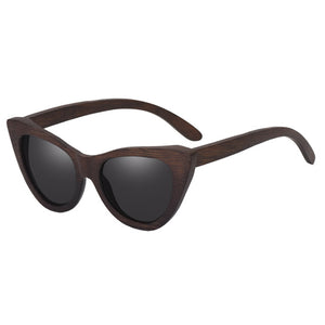 03740045ddb AOFLY BRAND DESIGN Women Sunglasses Polarized Lens Cat Eye Classic Vintage  Wooden Sun Glasses For Lady