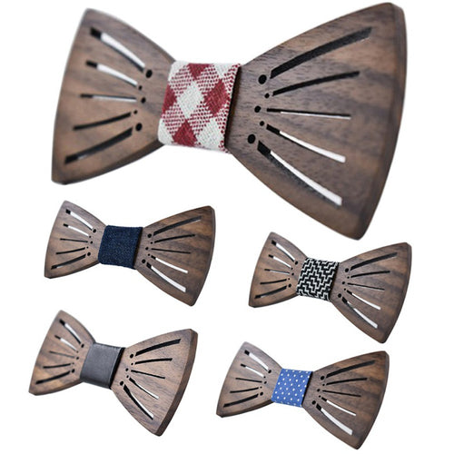 2017 New Carving Wooden Bow Tie Accessories Creative Wood Butterfly Mens&Women Tie 3 style Tie For Adlut W13