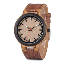 Tsuga - Black Ebony and Zebra Wood Watch